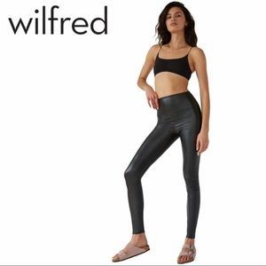 Wilfred Free | Daria Faux Leather Leggings - Size Small